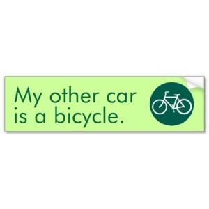 my other car is a bike bumper sticker