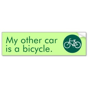 my other car is a bike bumper sticker