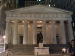 wall street george washington statue