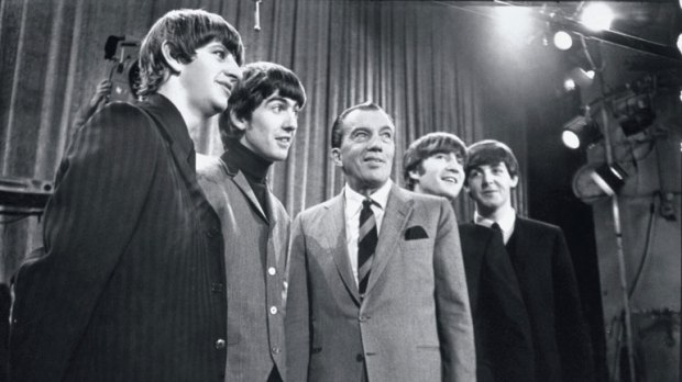 black and white beatles ed sullivan